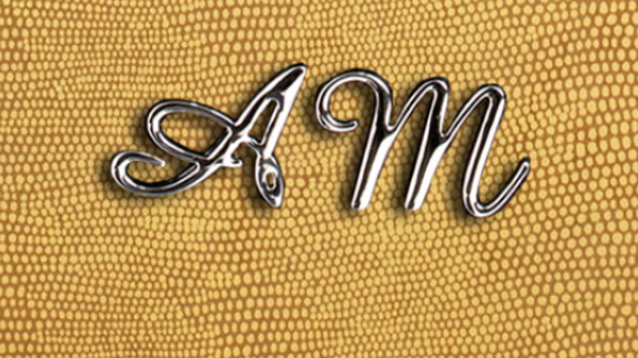Metal initials