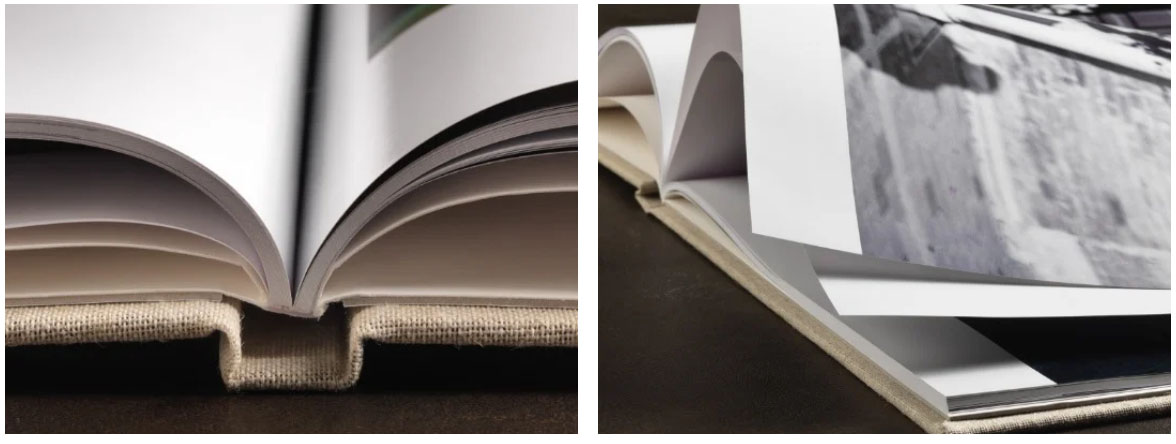 Perfect binding with thin pages